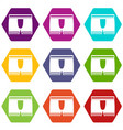 man boxer briefs icon set color hexahedron vector image vector image