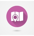 map and navigation icon vector image vector image