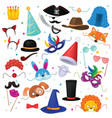 mask kids carnival costume hat for children vector image
