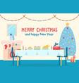 merry christmas home decor vector image vector image