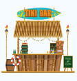 mini tiki bar vector image vector image