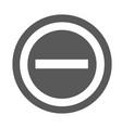 minus icon simple vector image