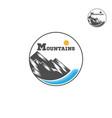 mountain logo liner design logo vector image