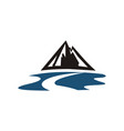 mountain river logo vector image