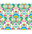 norwegian folk art seamless pattern vector image vector image