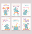 nursery elephant posters animal decoration for vector image vector image