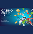 online casino poster poker gambling casino vector image vector image