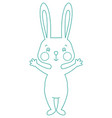 outline rabbit vector image vector image