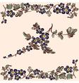 pattern floral blue flower vector image vector image