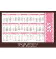 pocket calendar 2015 start on Sunday vector image vector image