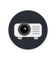 projector icon in flat style vector image