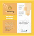 pumpkin company brochure title page design vector image vector image