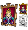 queen cartoon portrait vector image vector image