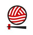 ramen noodle logo template vector image