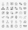 remote work line icons set vector image
