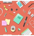 Seamless Background with Office Tools vector image vector image