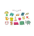 set for sleep lovely things for the bedroom good vector image