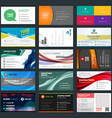set modern creative business cards vector image