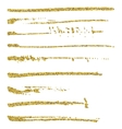 Set of glitter brush strokes vector image vector image