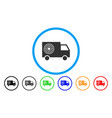 shooting gallery truck rounded icon vector image
