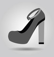 single women platform high heel strap shoe icon vector image vector image