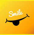 smiley face poster world smile day vector image