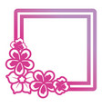 square frame flowers design vector image
