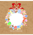Stylized Colorful Background with Christmas Elemen vector image vector image