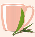 tea leaves vector image vector image