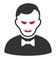 vampire flat icon vector image