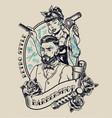 vintage barbershop label vector image vector image