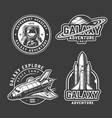 vintage space exploration emblems set vector image