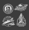 vintage space exploration emblems set vector image vector image