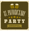 Vintage style st patricks day greeting card design