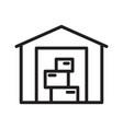 warehouse icon line art logo storage vector image vector image