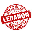 welcome to lebanon vector image vector image