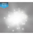 white glitter wave white star vector image vector image