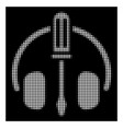 white halftone headphones tuning screwdriver icon vector image