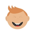 Laughing boy icon Cute cartoon character with red vector image