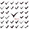 Check Marks or Ticks vector image