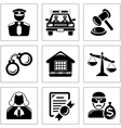 Security and law icons vector image