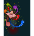 abstract background with floral ornament vector image