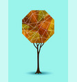 abstract fall tree geometric design vector image vector image