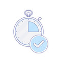 alarm check clock hour minute time timer icon vector image vector image