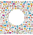 all line icons color of technology school vector image vector image