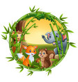 animals are meet together vector image vector image