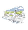 annapolis maryland usa america sketch city line vector image vector image