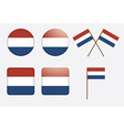 badges with flag of the Netherlands vector image vector image