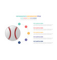 baseball infographic template concept with five vector image vector image