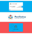beautiful justice logo and business card vertical vector image vector image